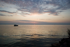 Sunset on Lake Ontario (shera76) Tags: sun water boats evening sunsets peaceful lakeontario portdalhousie