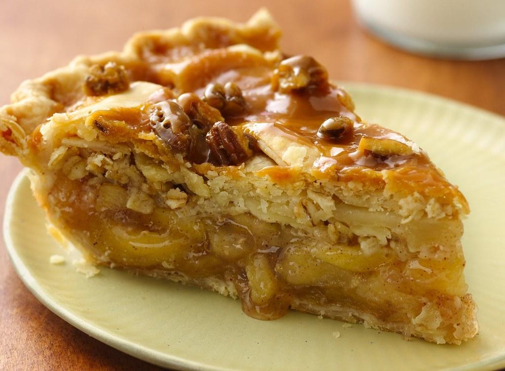Caramel-Apple Streusel Pie Recipe
