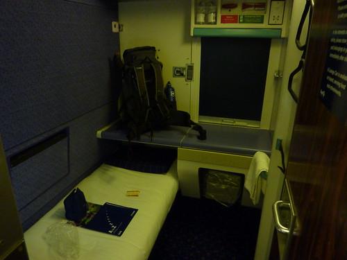 First class on the sleeper!