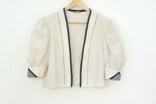 Vintage white alpen bolero