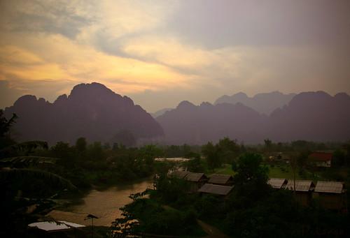 Sunset @ Vang Vieng
