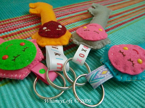 Miss Smiley Plush Key Holder2