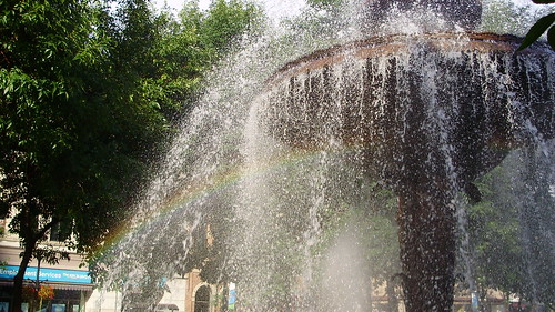 Gore Park fountain with rainbow