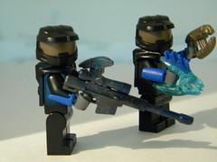 My two Halo Spartans (Sniper_Season) Tags: cool lego halo prototype sniper pistol needler brickarms