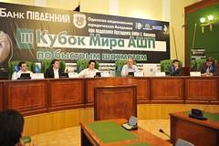 Press Conference (4) (mikhail_golubev) Tags: chess odessa worldcup rapid 2009 gurevich acp jakovenko naiditsch drozdovskij golubev chesscup morokhovsky