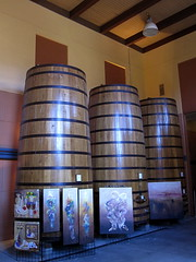 French Oak Barrels from Bordeaux,France () Tags: california ca wood 3 art northerncalifornia painting french three oak wine barrels calistoga paintings barrel bordeaux winery winetasting bacchus napavalley napa vin publicart oilpaintings winecountry vino wein kalifornien foodie winebarrels sundaydrive clospegase frenchoak clospegasewinery  californi larkmead demptos frenchoakbarrels  barrelsofwine  cap2888gal frenchoakbarrel