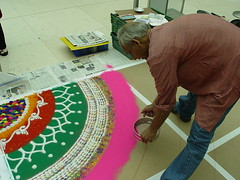 Rangoli at British Museum (janakchauhan) Tags: britishmuseum rangoli indianart janak floorart
