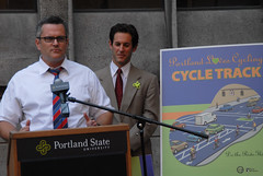 Broadway cycle track unveiling event-3