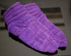 Purple Smooshy Socks 1