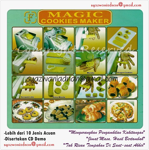 Magic Cookies Maker a.k.a Pasta Maker a.k.a Mesin Mee, a.k.a Mesin Tart Gulung