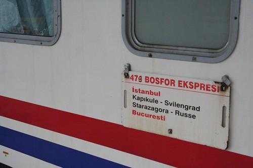 comboio desde Bucareste até Istambul