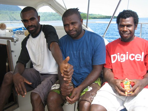 Ken, Thomas,and Tom.  Brothers from Rivelieu Bay, Epi Island