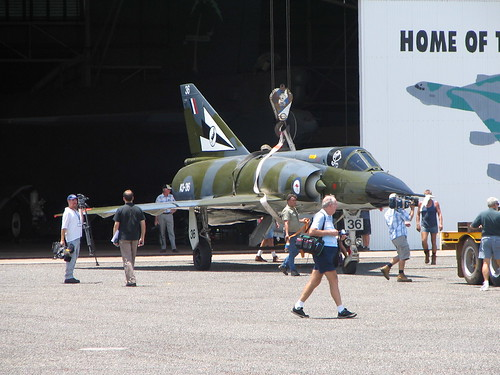 Photograph 0210 - 75 Squadron Mirage A3-36 Returns to Darwin's Aviation Heritage Centre