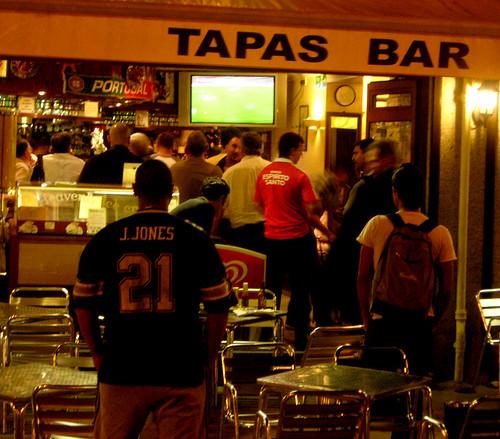 Portuguese football fans, London