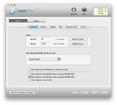 MAMP PRO - Server - General