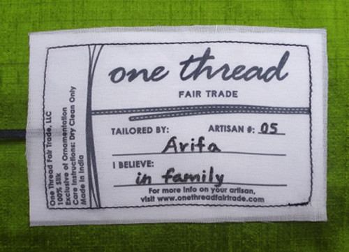 One Thread Fair Trade LABEL