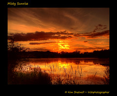 Misty Sunrise (Irishphotographer) Tags: morning lake dawn evening lough dusk atmosphere tranquil peacefull kinkade beautifulireland irishphotographer imagesofireland kimshatwell breathtakingphotosofnature beautifulirelandcalander wwwdoublevisionimageswebscom