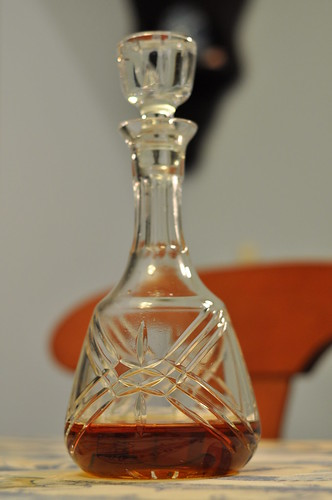 The decanter of cognac