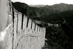 What a Great Wall it is! (Megan Preece Photography) Tags: china blackandwhite mountains asia thegreatwall winnerbc