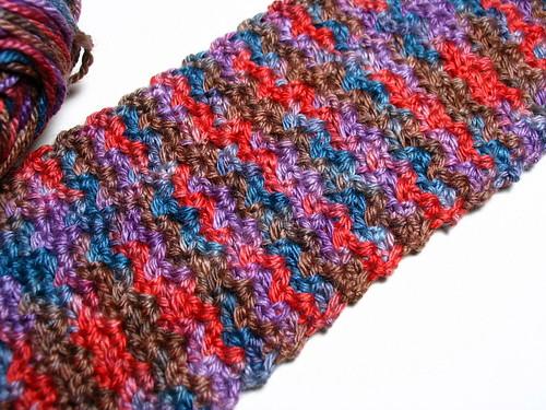 Wattle stitch scarf