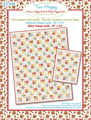 Two Happy quilt pattern - freebie from meebie