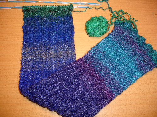 Snuggly Silk Garden scarf WIP (2)