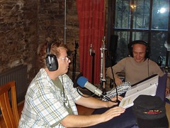 Rick recording his lines (Lars Thorsen) as Bodo checks sound and directs