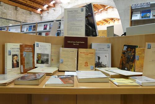 Exposició de la donació de llibres del Centre d'Estudis Colombins