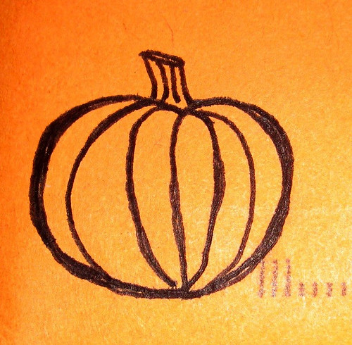 she drew me a pumpkin