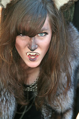She Wolf Snarles (wyojones) Tags: woman girl beautiful beauty face look animal festival mouth eyes skins wolf texas expression c teeth ears lips trf bite faire renfaire brunette renaissancefestival fangs facepaint renaissance renaissancefaire renfest element rennie shewolf texasrenfest texasrenaissancefestival plantersville animalskins wolfwoman toddmission toddmissiontexas wyojones elementofair