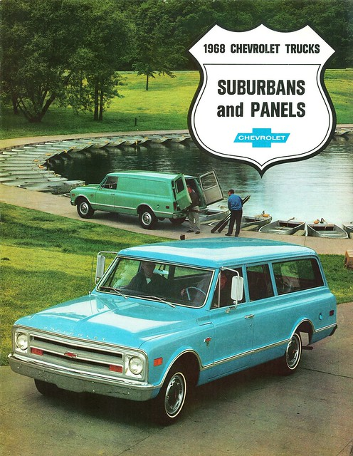 chevrolet suburban trucks panels 1968 brochure