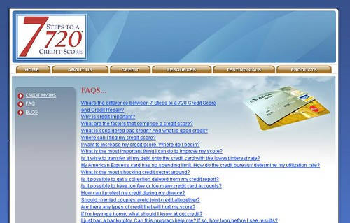 Steps to a 720 Credit Score and to improve my credit score at http://www.7stepsto720.com/ by bbrij873