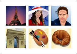 free Paris Beauty slot game symbols