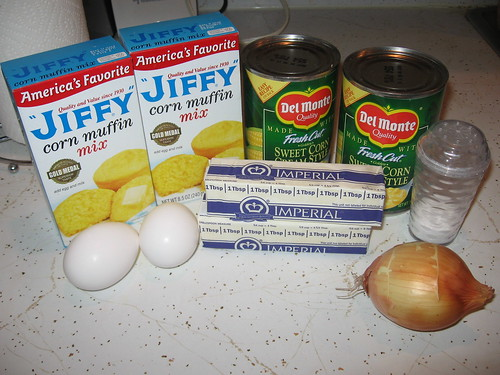 Scalloped Corn Ingredients