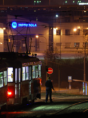 Waiting for duty... (cz.EightyFour) Tags: tram brno t3 salina noc tramvaj alina dpmb bestofmine2k9