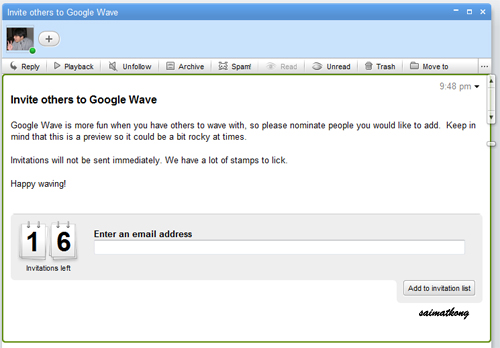 Free Google Wave Invite