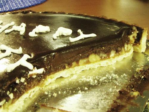 chocolate crunched caramel tart - 47