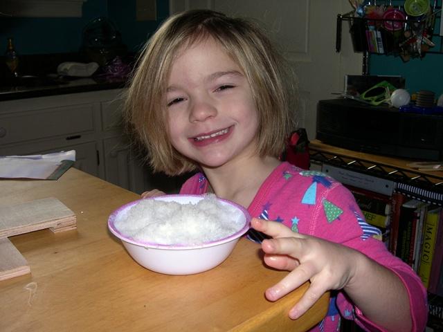 big bowl of SNOW!