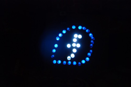 Fedora logo in LED