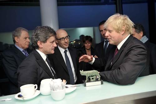 Incontro con il sindaco di Londra Boris Johnson