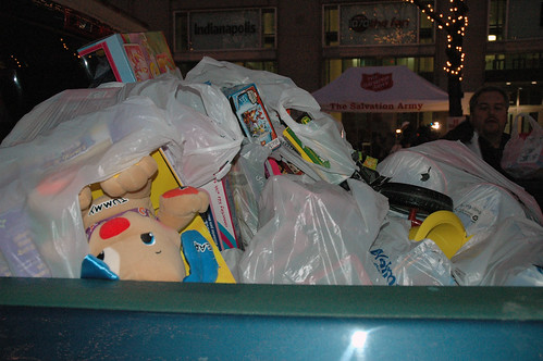 The Dodson Family generously donated a truck full of toys to The Salvation Armys Kids Toy Shop during Radiothon.