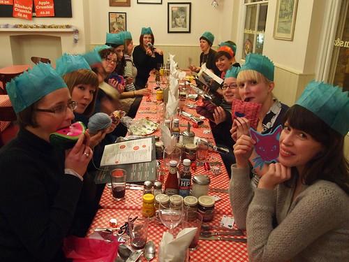 Hoxton knitters xmas dinner