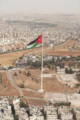 Jordanian flag near citadel