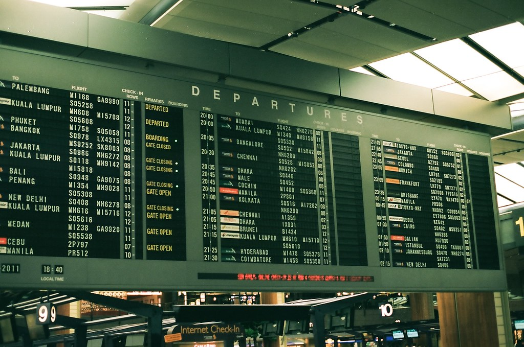 Singapore Changi Airport Flight Information Board - 77 of 365