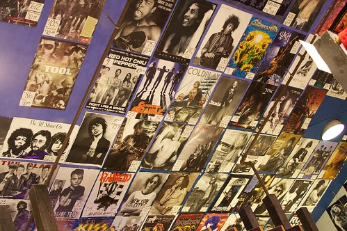 Rock posters.