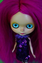 Violet mohair and hypnotic eyes