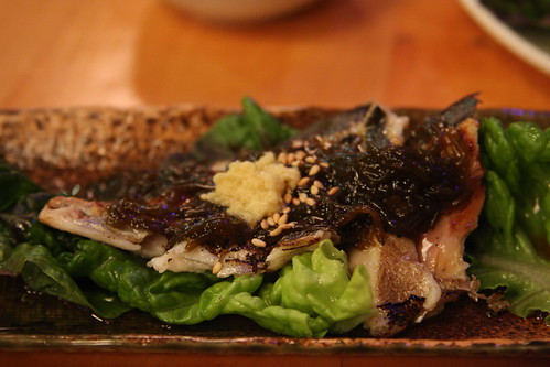 special dish - mackerel and seaweed