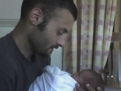 My brother and his baby!