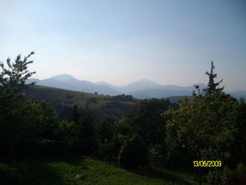 Panorama dal monte Fano Monastero San Silvestro Fabriano