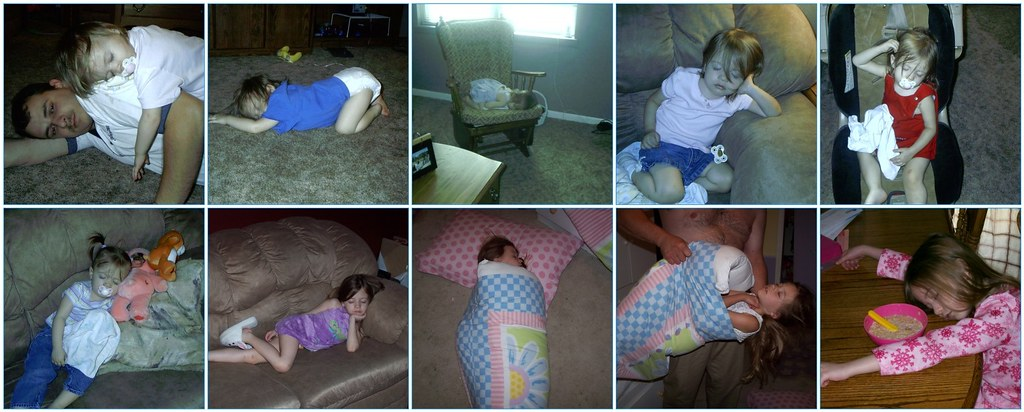 Madison sleeping collage